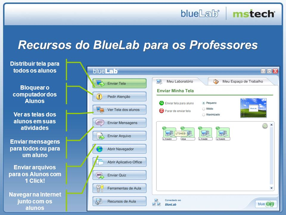 Recursos do BlueLab para os Professores