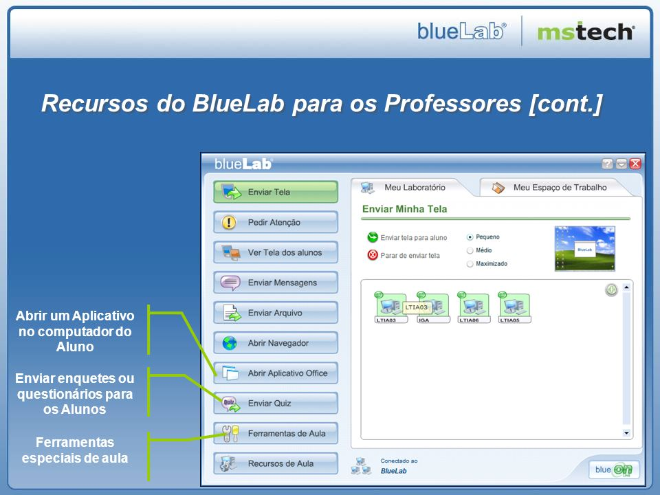 Recursos do BlueLab para os Professores [cont.]