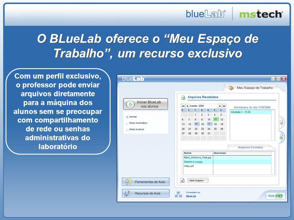 O BLueLab oferece o Meu Espaço de Trabalho , um recurso exclusivo
