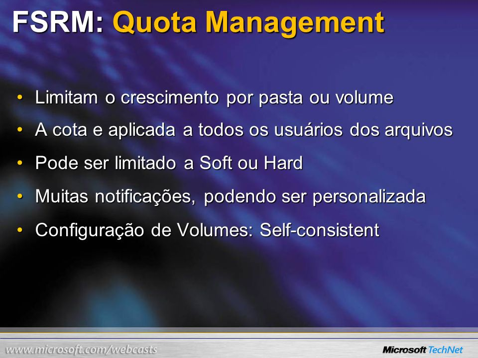 FSRM: Quota Management