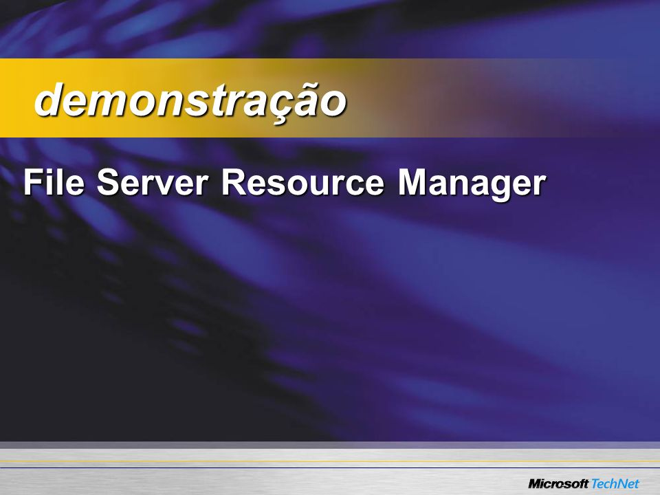 demonstração File Server Resource Manager
