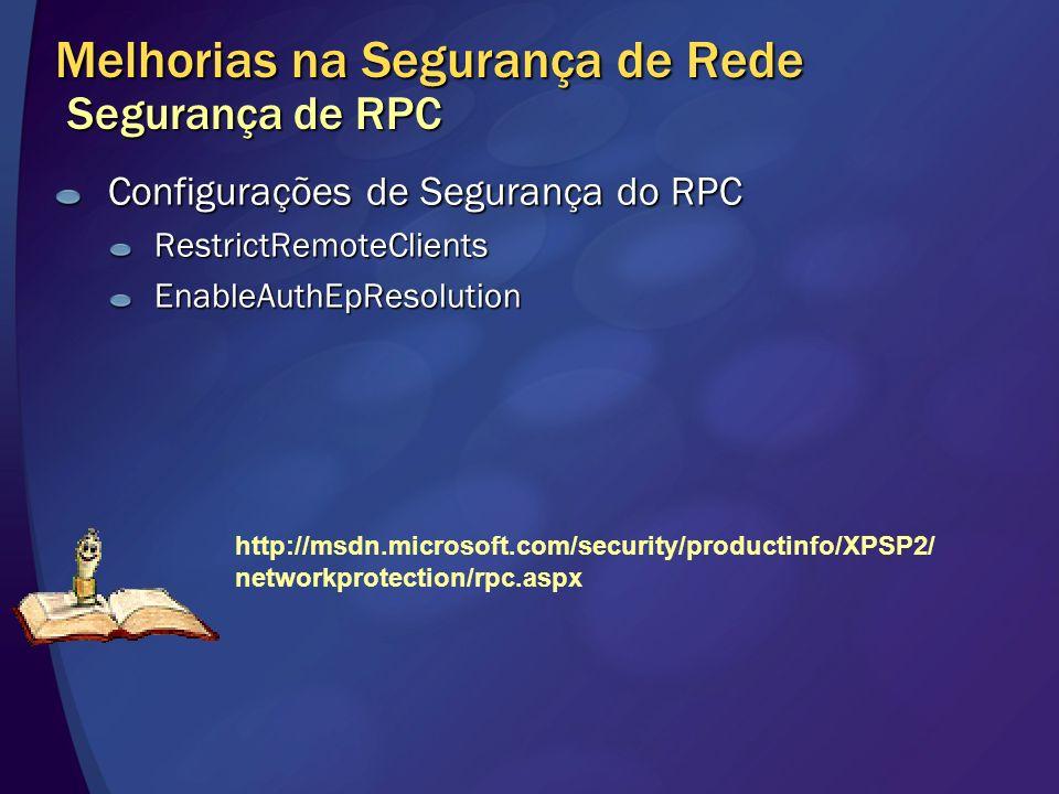 Melhorias na Segurança de Rede Segurança de RPC