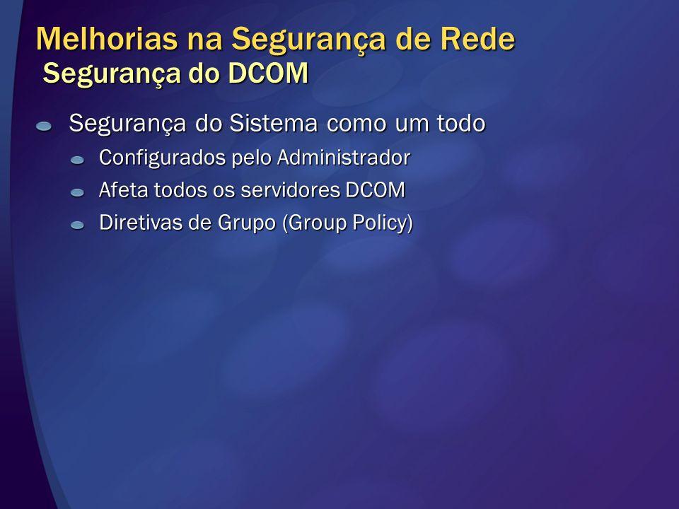 Melhorias na Segurança de Rede Segurança do DCOM