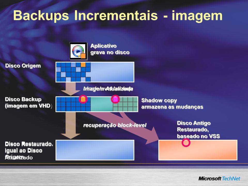 Backups Incrementais - imagem