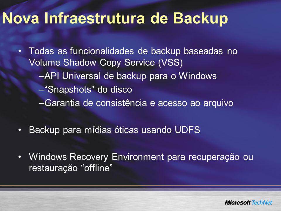 Nova Infraestrutura de Backup