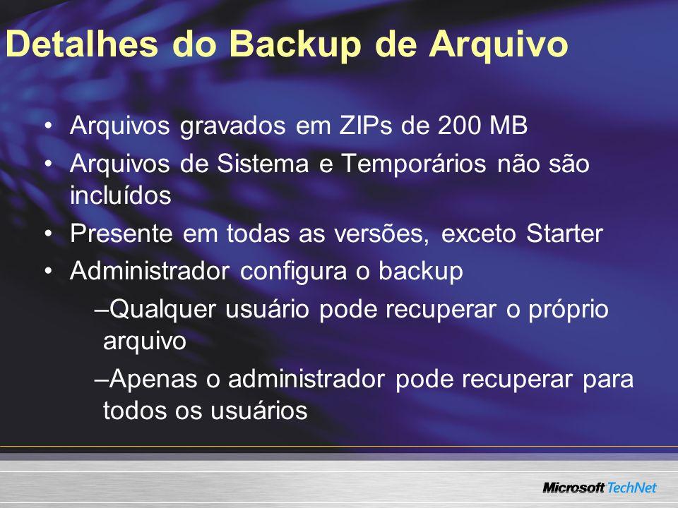 Detalhes do Backup de Arquivo