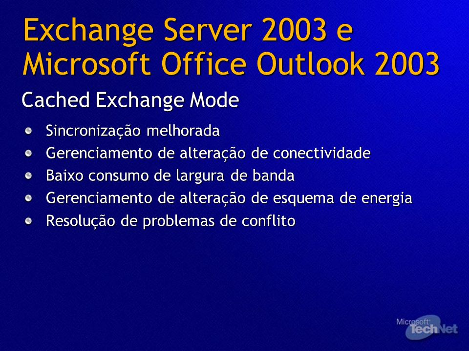 Exchange Server 2003 e Microsoft Office Outlook 2003
