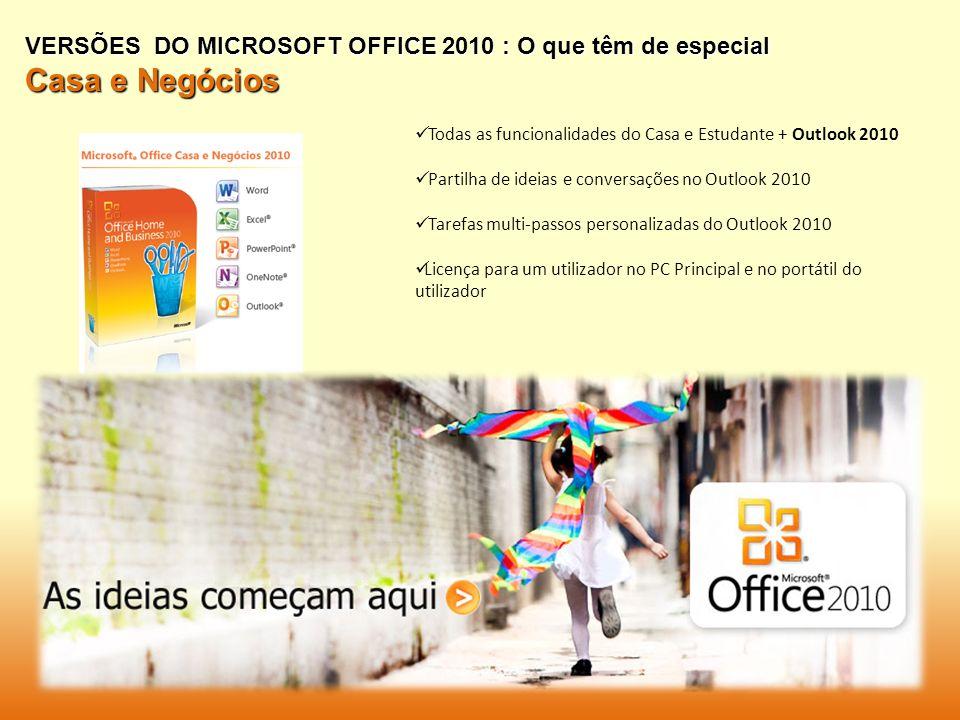 VERSÕES DO MICROSOFT OFFICE 2010 : O que têm de especial