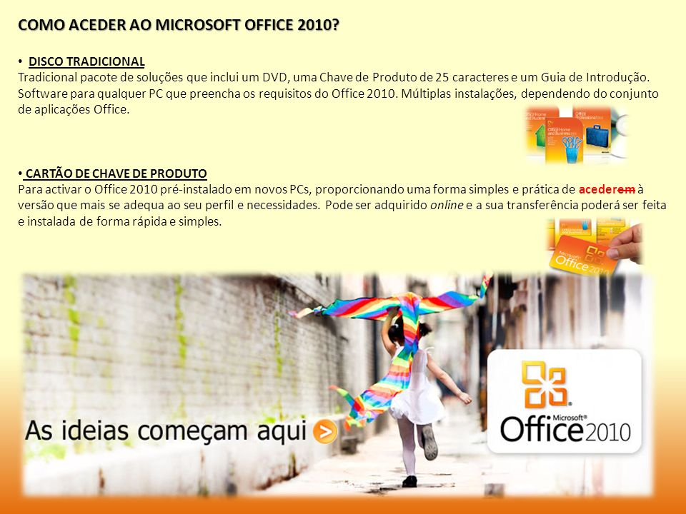 COMO ACEDER AO MICROSOFT OFFICE 2010