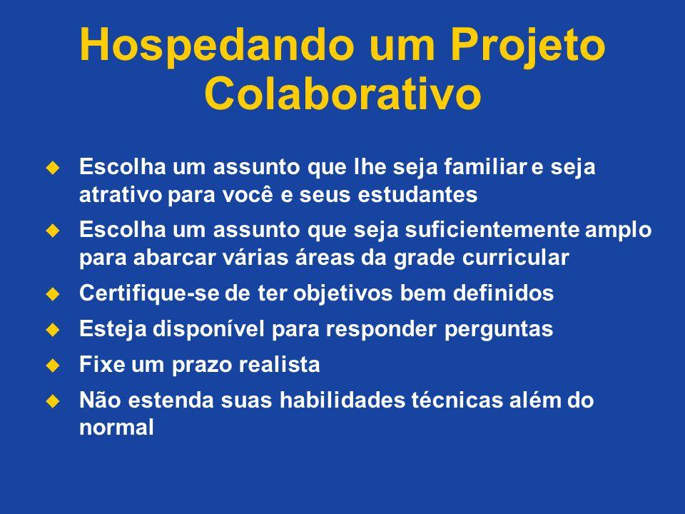 Hospedando um Projeto Colaborativo
