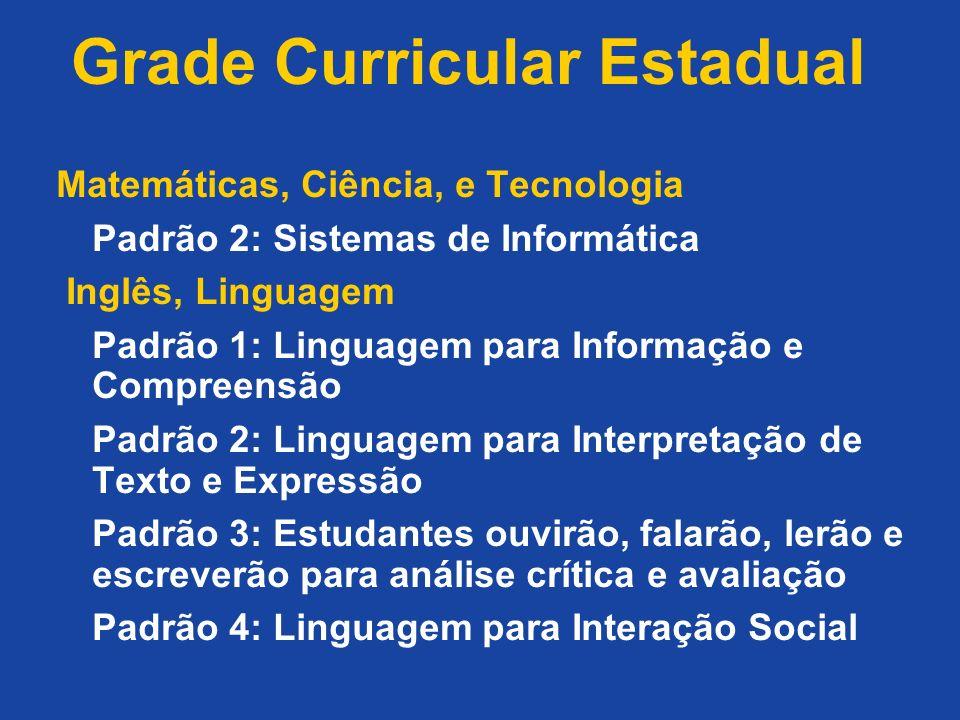 Grade Curricular Estadual