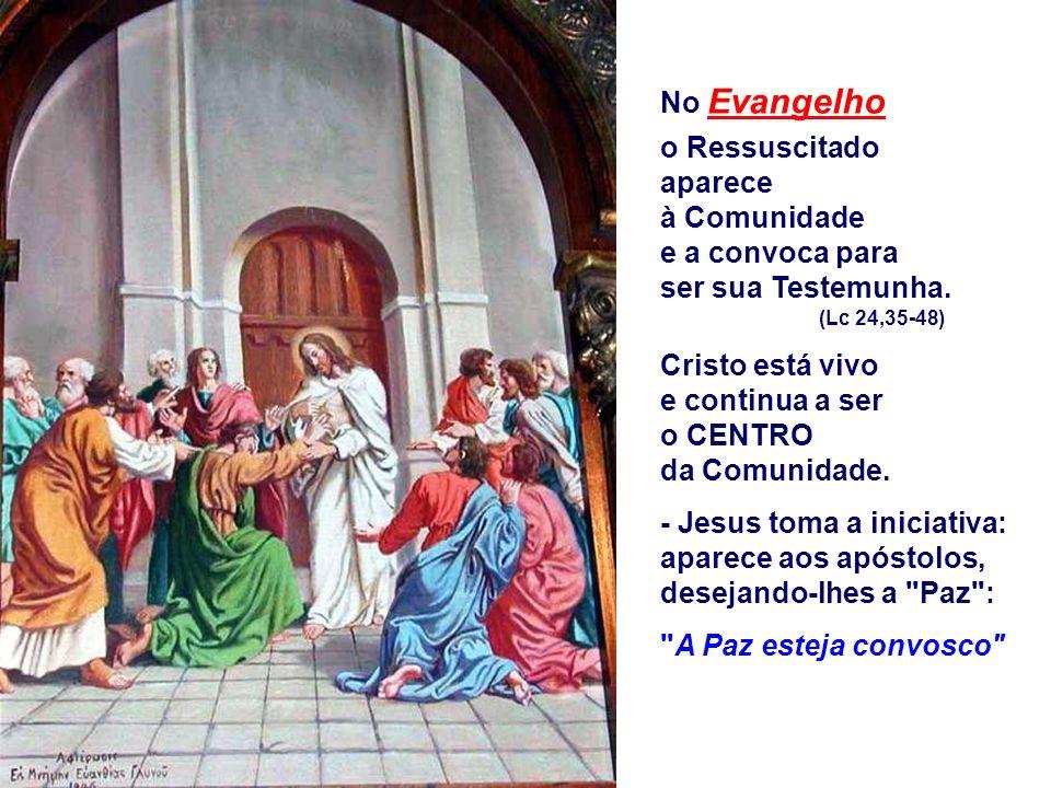 Cristo está vivo e continua a ser o CENTRO da Comunidade.