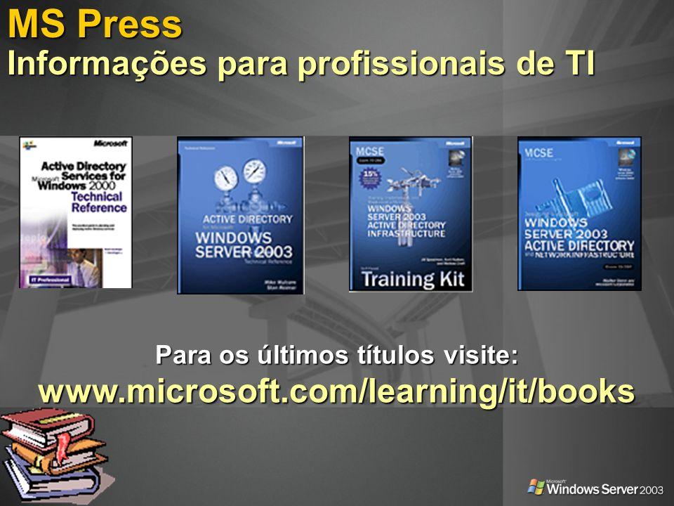 MS Press Informações para profissionais de TI
