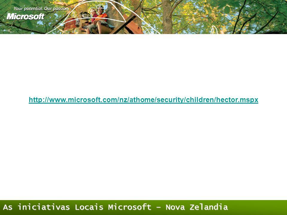 As iniciativas Locais Microsoft – Nova Zelandia