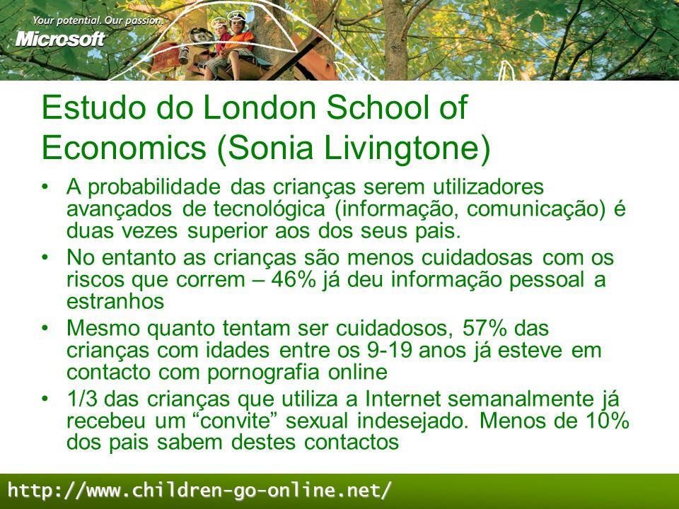 Estudo do London School of Economics (Sonia Livingtone)