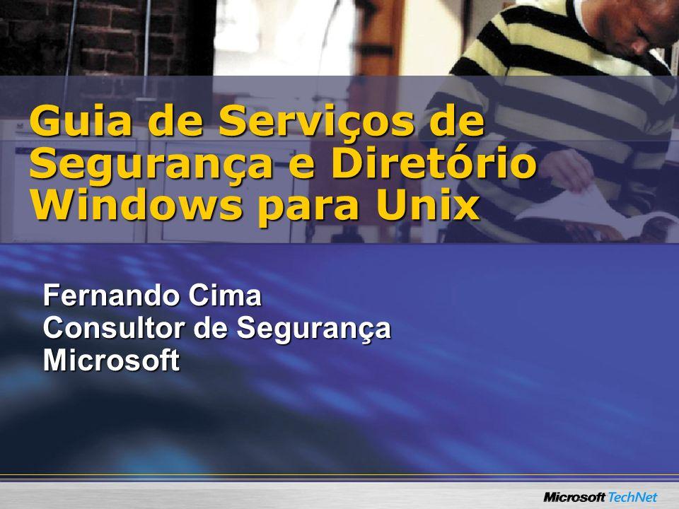 Guia de Serviços de Segurança e Diretório Windows para Unix
