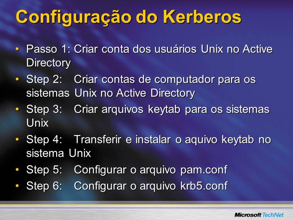 Configuração do Kerberos