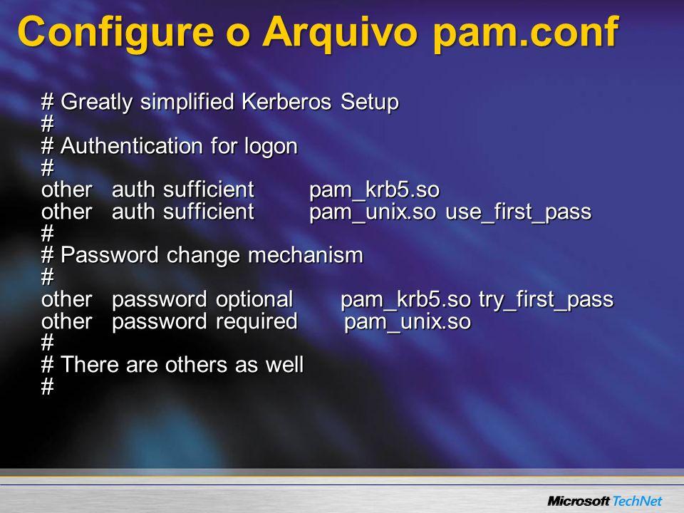 Configure o Arquivo pam.conf