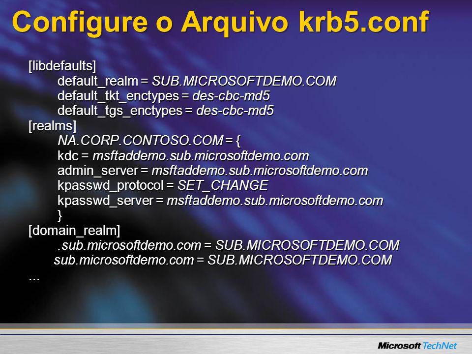 Configure o Arquivo krb5.conf