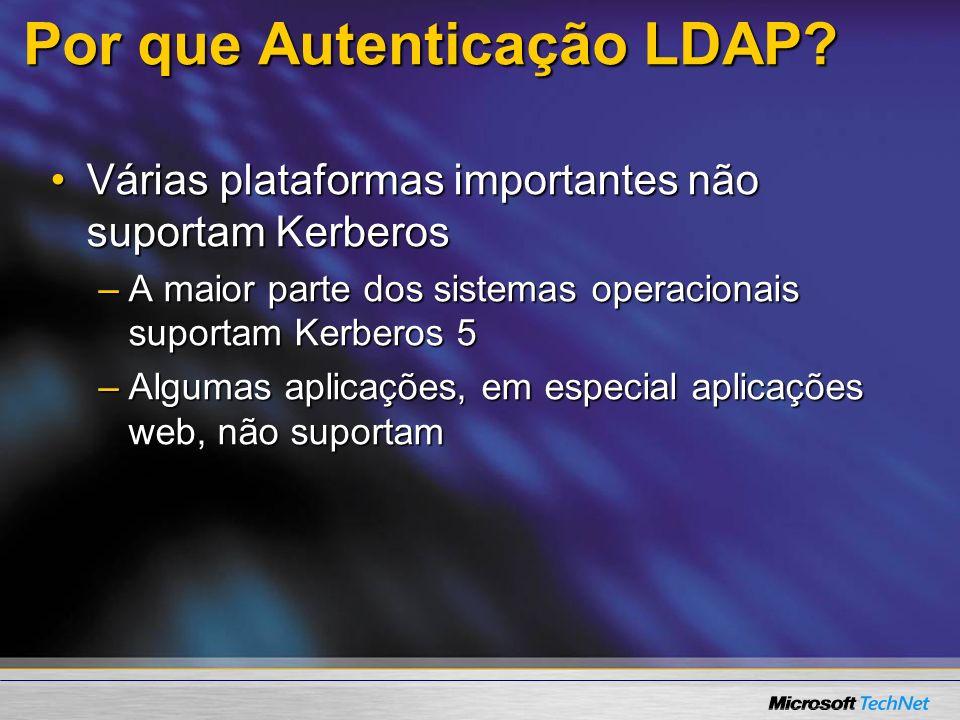 Por que Autenticação LDAP