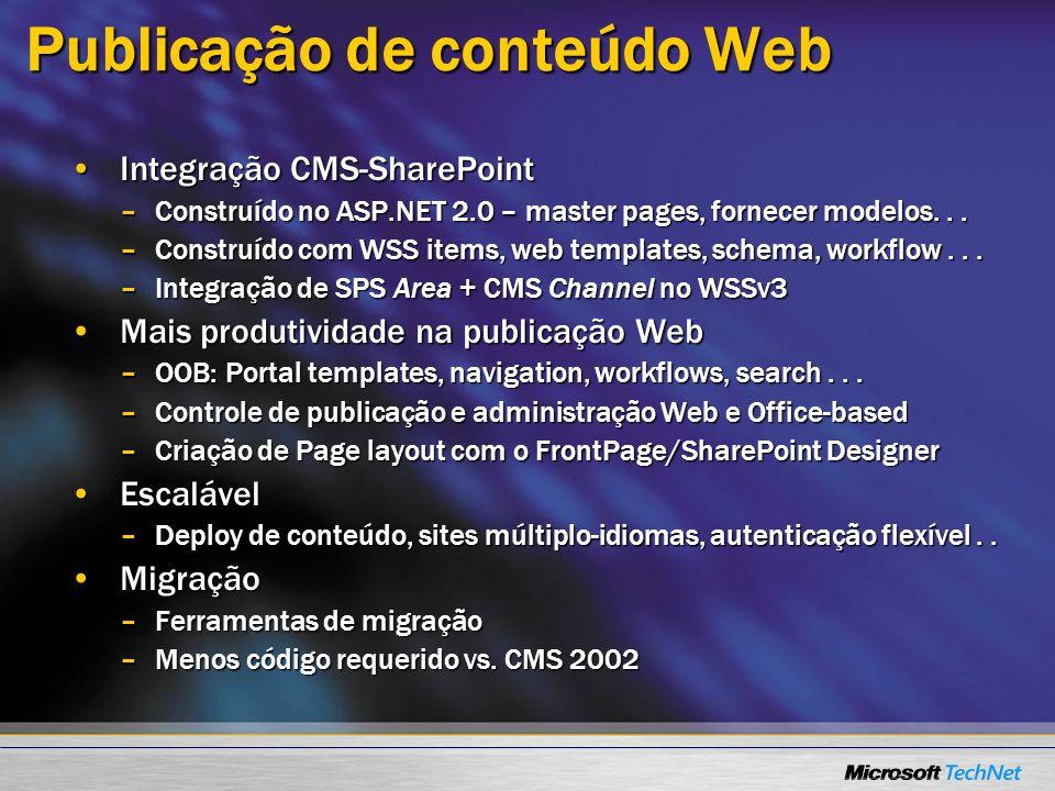 Publicação de conteúdo Web