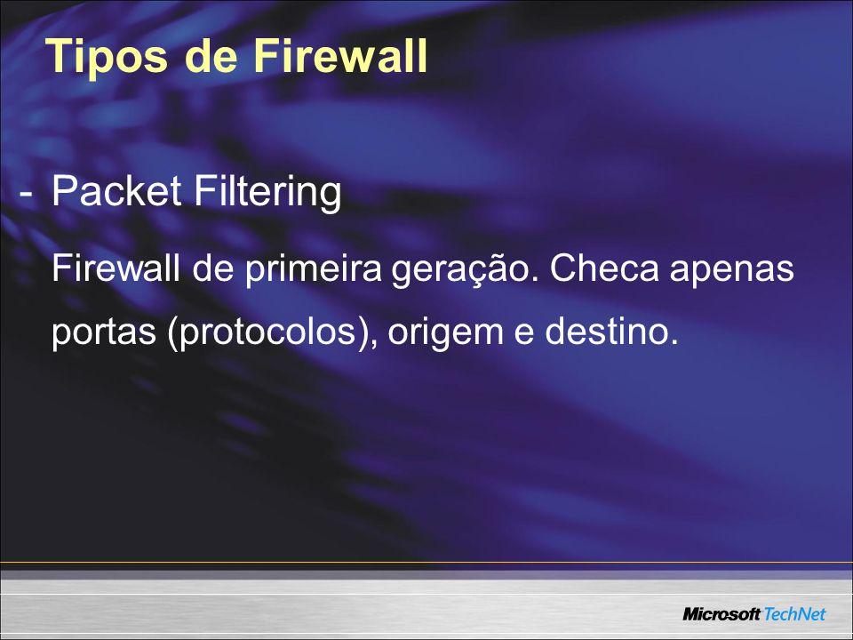 Tipos de Firewall - Packet Filtering