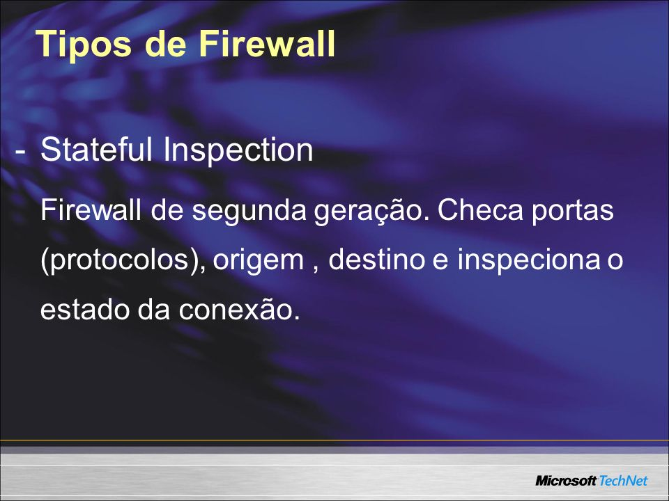 Tipos de Firewall - Stateful Inspection