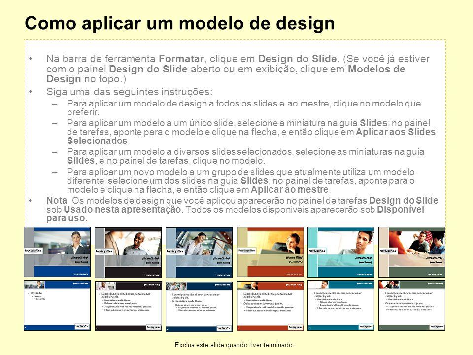 Como aplicar um modelo de design