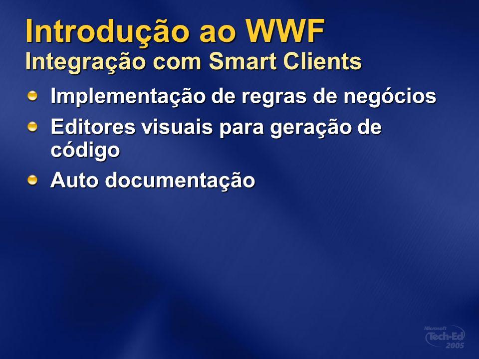 Introdução ao WWF Integração com Smart Clients