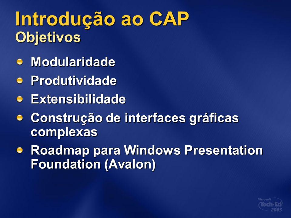 Introdução ao CAP Objetivos