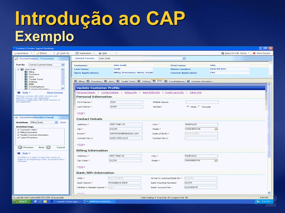 Introdução ao CAP Exemplo