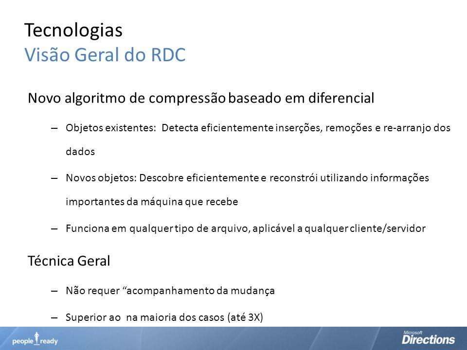 Tecnologias Visão Geral do RDC