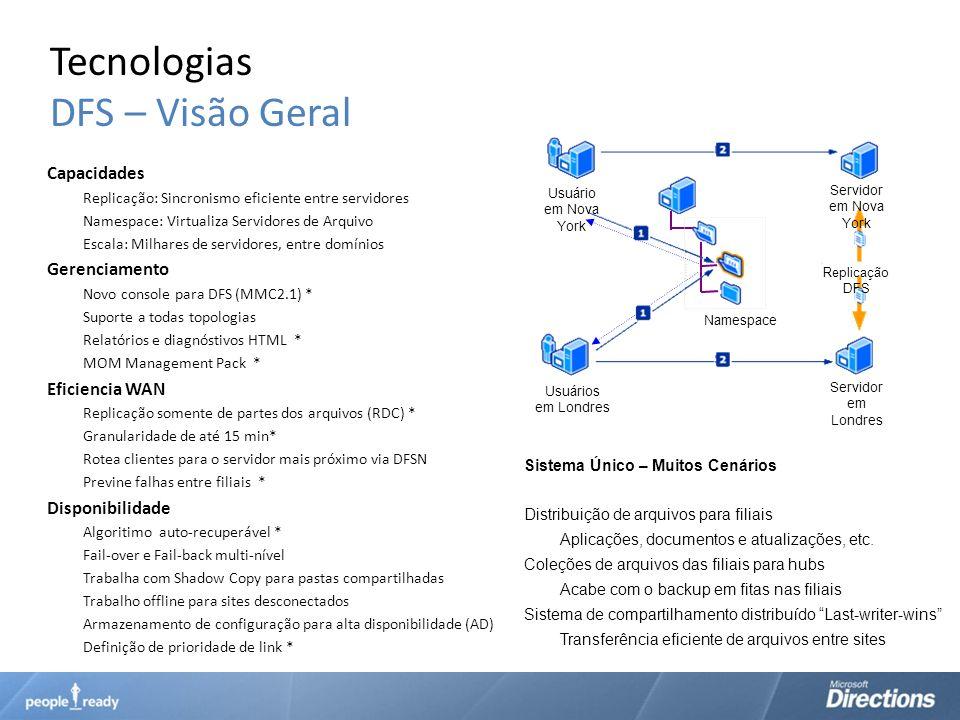 Tecnologias DFS – Visão Geral