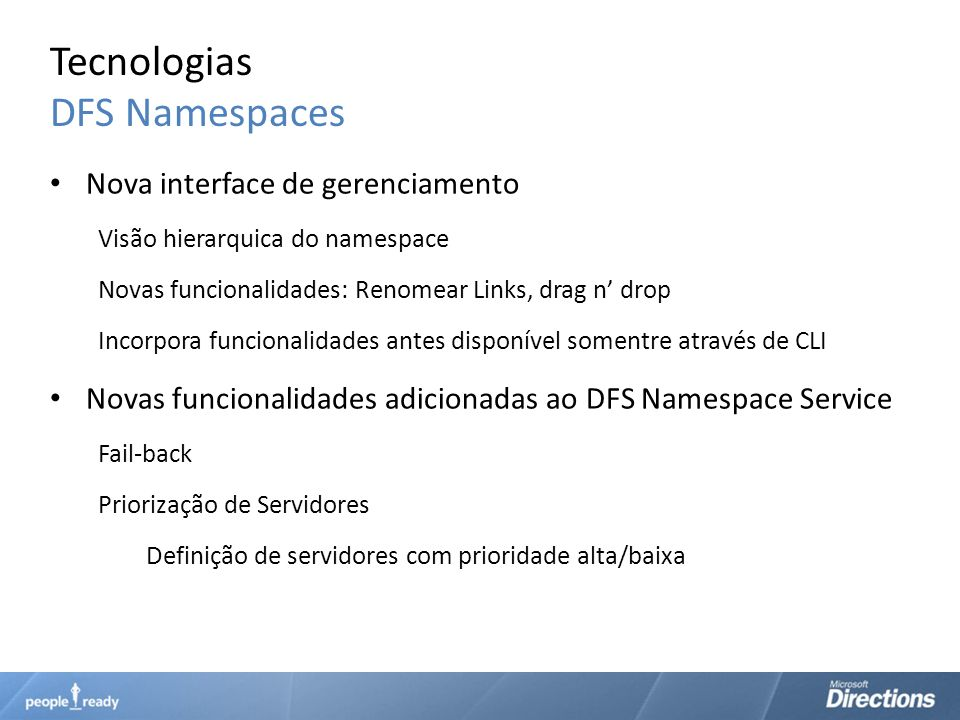 Tecnologias DFS Namespaces