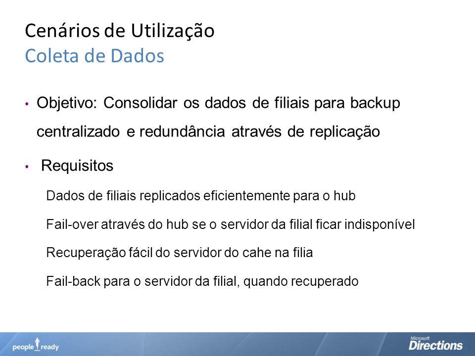 Cenários de Utilização Coleta de Dados