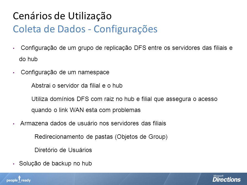 Cenários de Utilização Coleta de Dados - Configurações