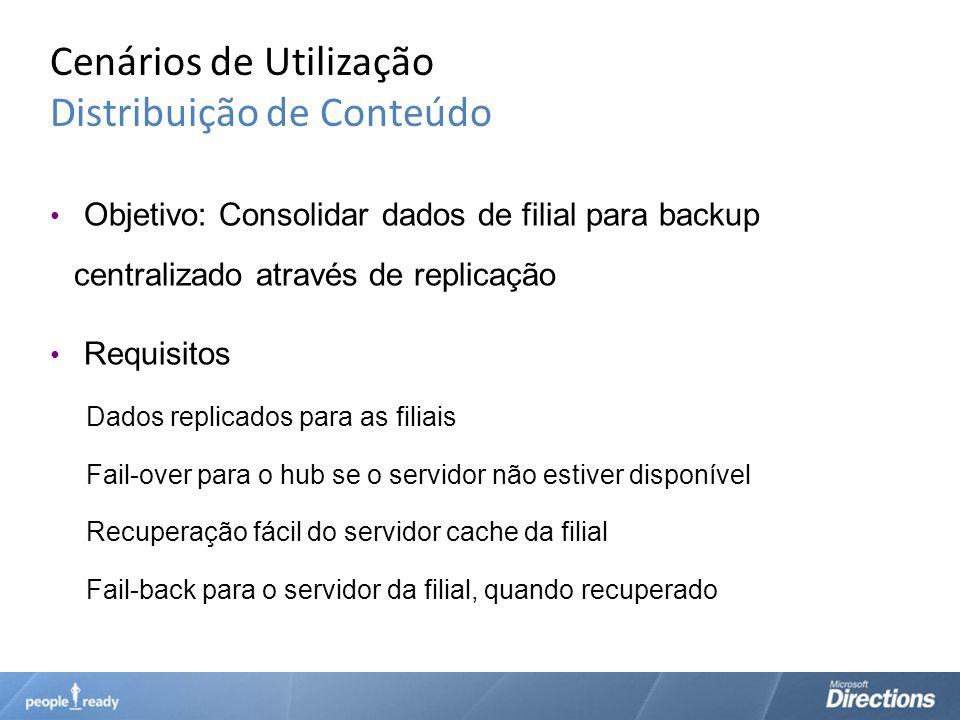 Cenários de Utilização Distribuição de Conteúdo