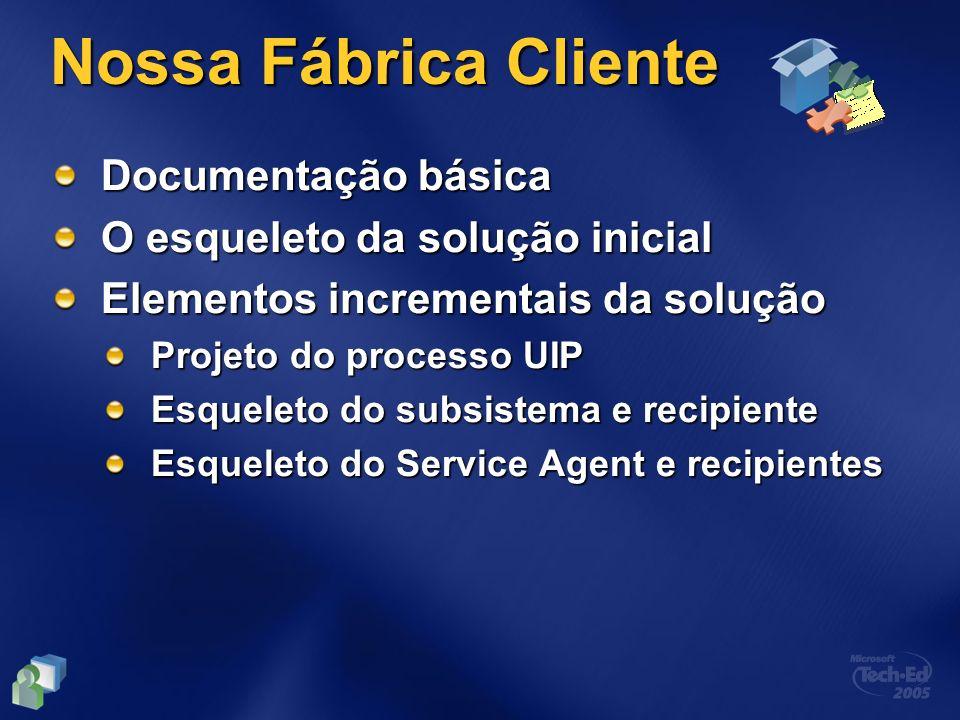 Nossa Fábrica Cliente Documentação básica