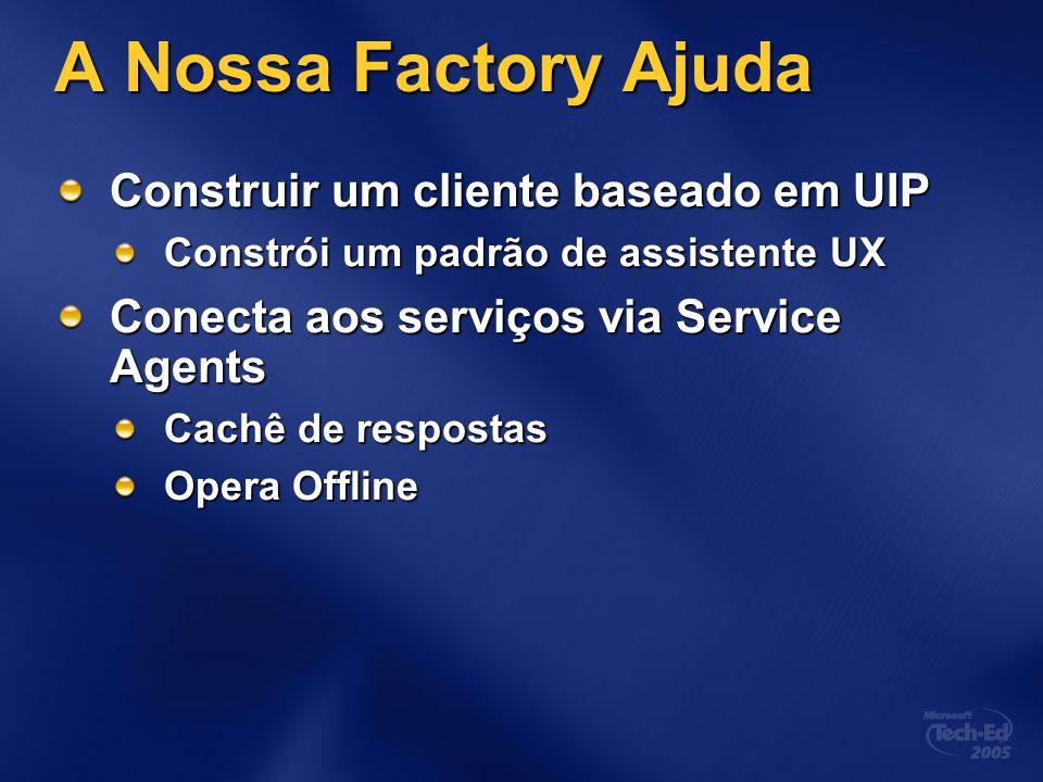 A Nossa Factory Ajuda Construir um cliente baseado em UIP