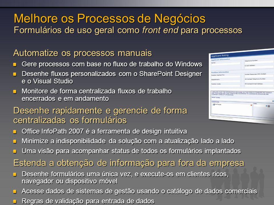 Melhore os Processos de Negócios Formulários de uso geral como front end para processos