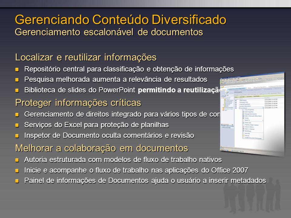 Gerenciando Conteúdo Diversificado Gerenciamento escalonável de documentos