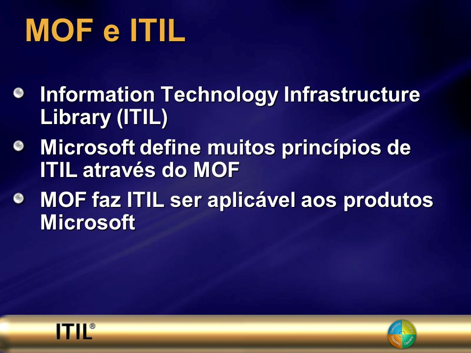 MOF e ITIL Information Technology Infrastructure Library (ITIL)