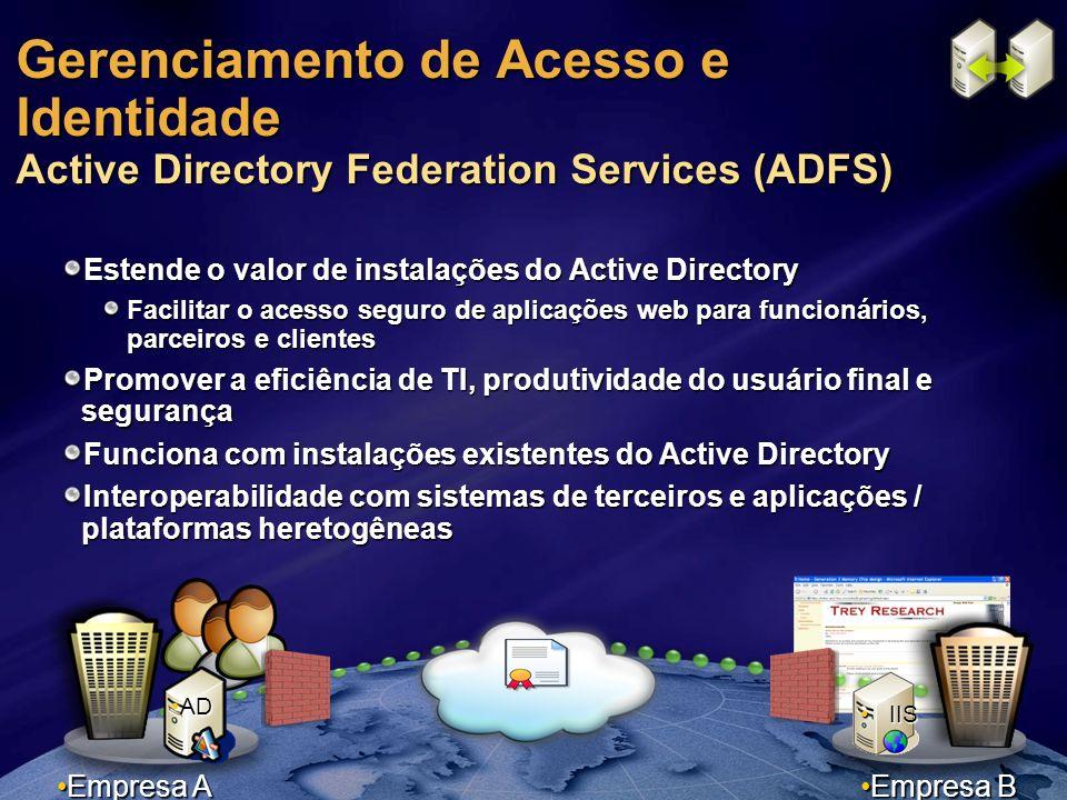 Gerenciamento de Acesso e Identidade Active Directory Federation Services (ADFS)