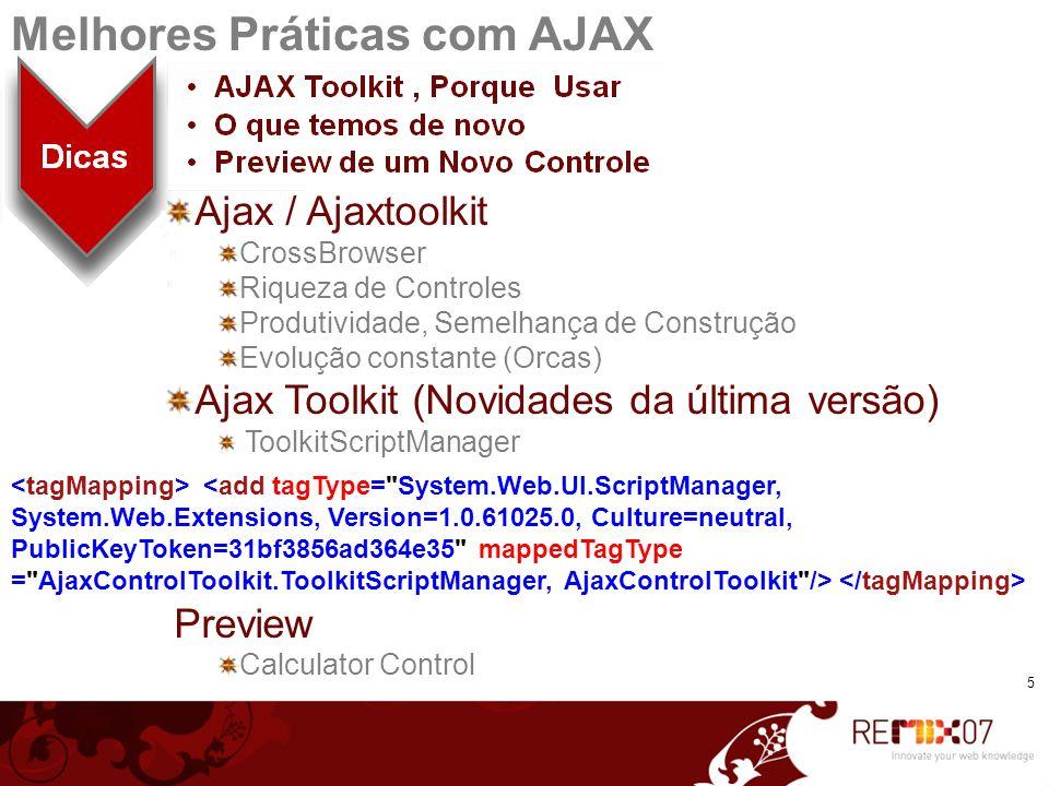 Melhores Práticas com AJAX