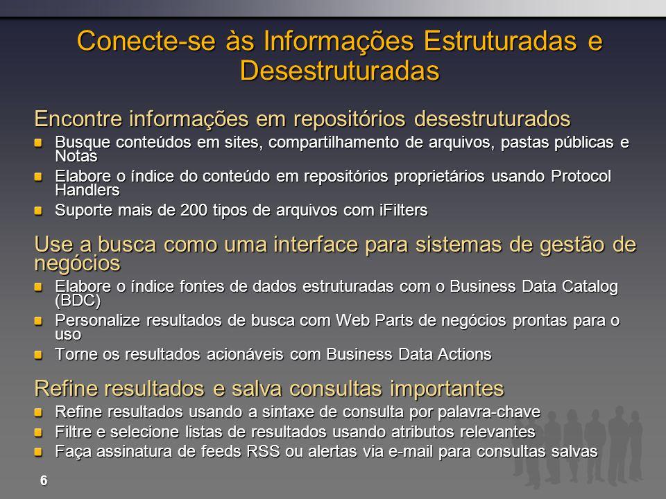 Conecte-se às Informações Estruturadas e Desestruturadas