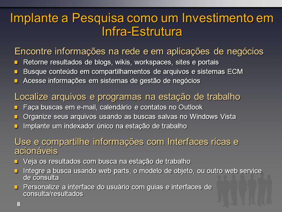 Implante a Pesquisa como um Investimento em Infra-Estrutura