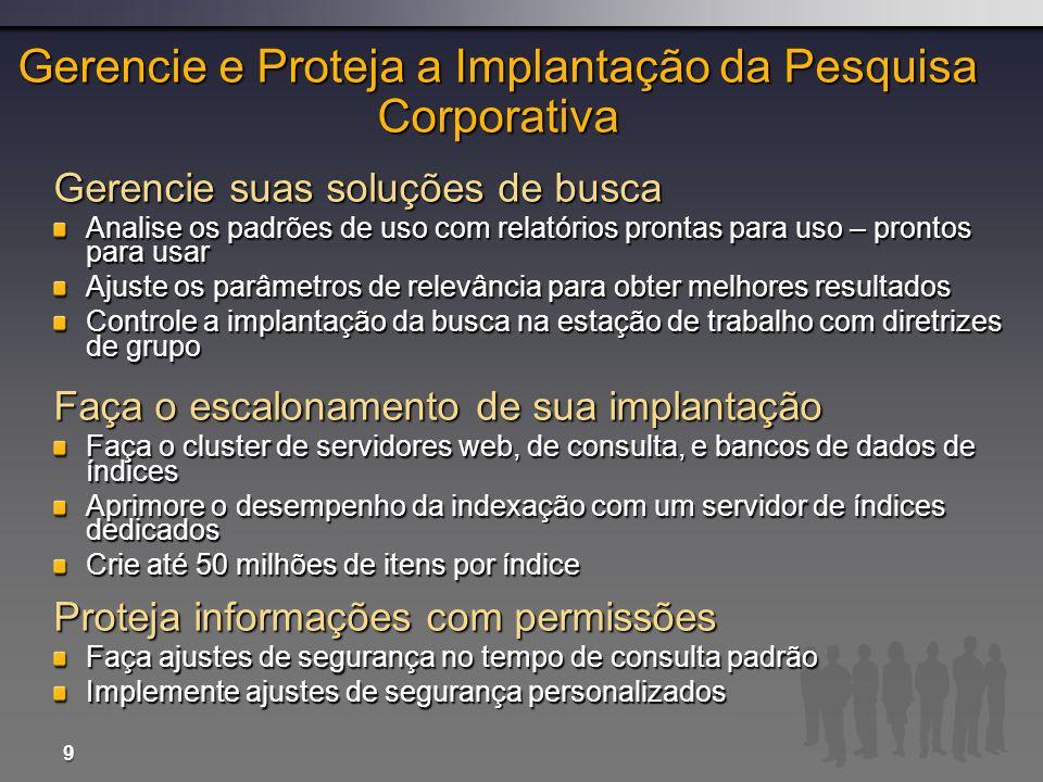 Gerencie e Proteja a Implantação da Pesquisa Corporativa
