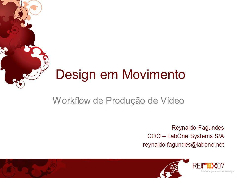 Workflow de Produção de Vídeo