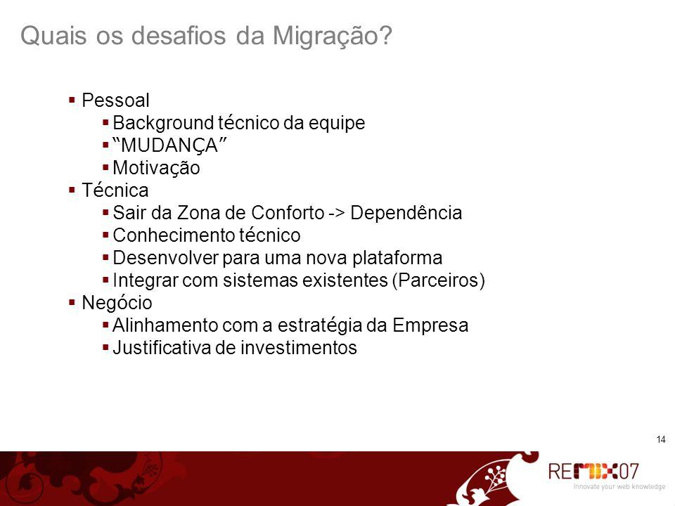 Quais os desafios da Migração