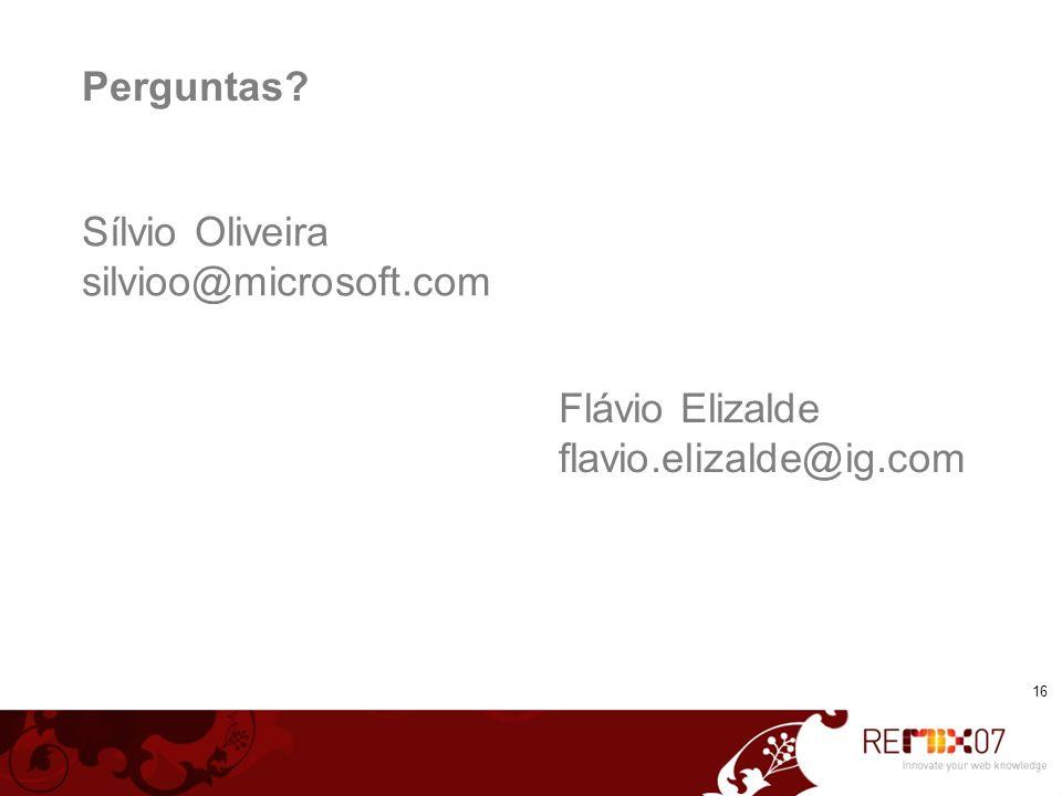 Sílvio Oliveira silvioo@microsoft.com